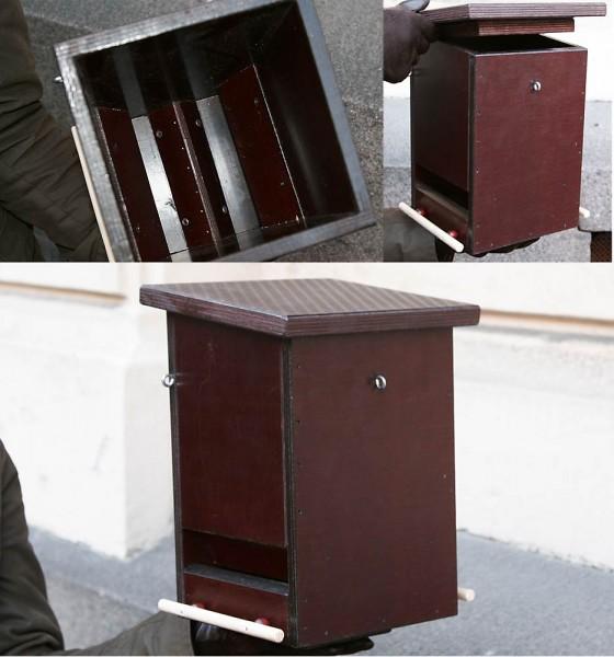 Eero Kivimäen suunnittelema ruokinta-automaatti