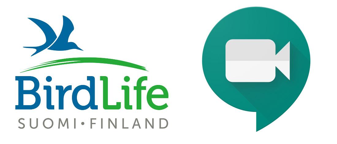 BirdlifeSuomi-GoogleMeet logot