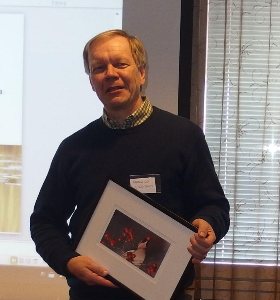 Vuoden lintulaskija Markku Ukkonen.