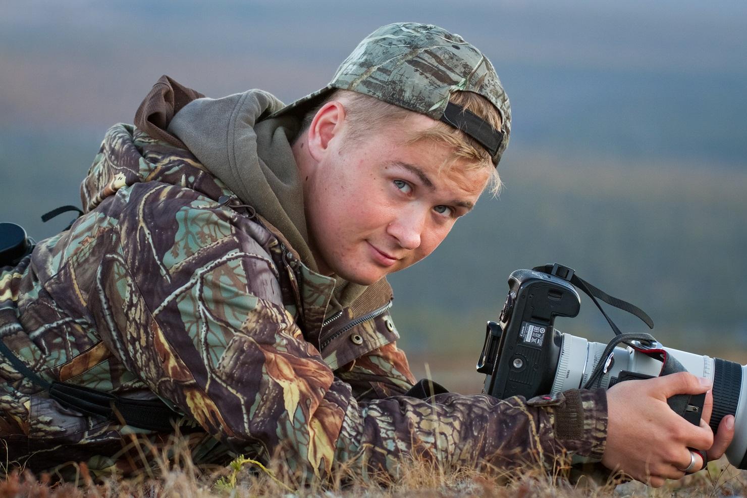 Vuoden nuori lintuharrastaja 2017, Teemu Sirkkala. Kuva: Juho Jolkkonen
