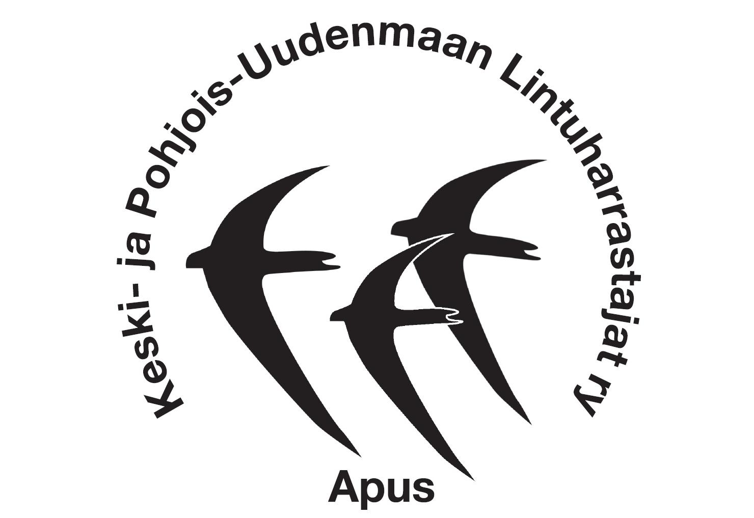 • Keski- ja Pohjois-Uudenmaan Lintuharrastajat Apus, logo