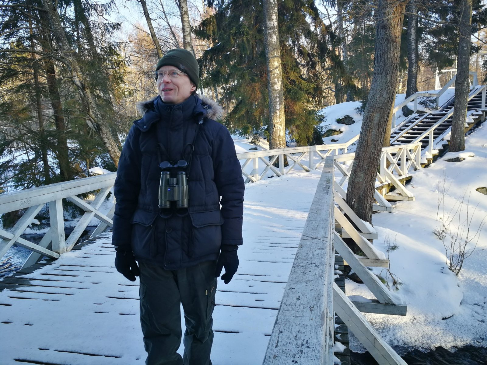 Vuoden lintulaskija Heikki-Pekka Innala.