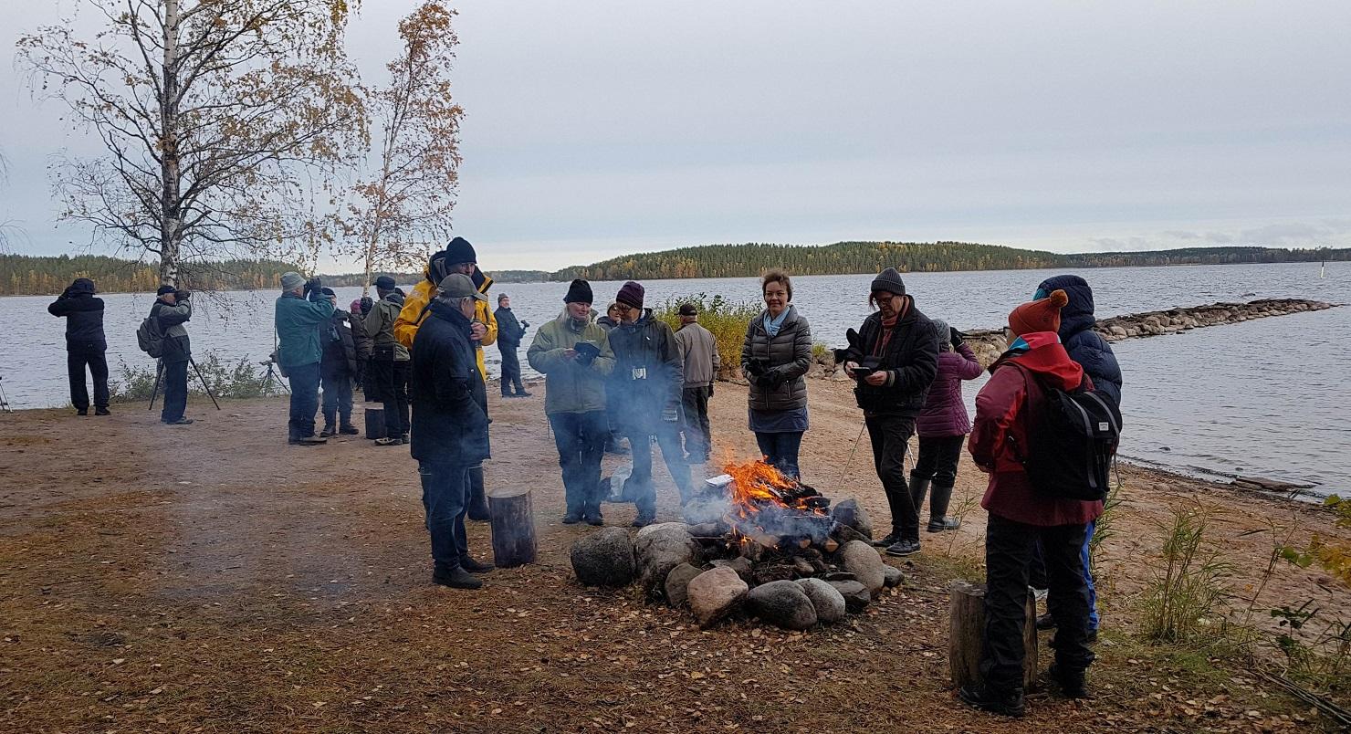 UuroBirdwatch-tapahtuma Lappeenrannan Tiurunniemessä 7.10.208. Kuva: Juha Juuti
